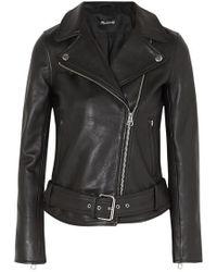 Madewell Ultimate Leather Motorcycle Jacket - Black