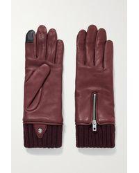 Rag & Bone Alpaca-lined Leather Gloves - Multicolour