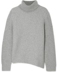Cedric Charlier - Ribbed Wool And Cashmere-blend Turtleneck Jumper - Lyst