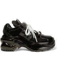 Maison Margiela - Retro Fit Sneakers Aus Lackleder - Lyst
