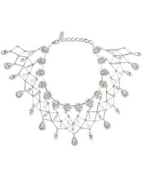 Erickson Beamon - Paper Cranes Silver-tone Crystal Necklace - Lyst