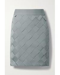 Hervé Léger Woven Bandage Mini Skirt - Grey