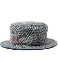 Ruslan Baginskiy - Embroidered Checked Wool Bucket Hat - Lyst