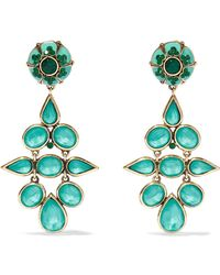 Etro - Gold-tone, Crystal And Enamel Clip Earrings - Lyst