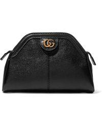 Gucci Re(belle) Clutch Aus Strukturiertem Leder - Schwarz