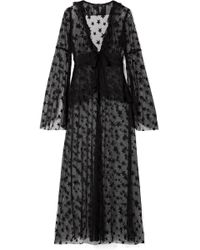 Anna Sui Shooting Star Point D'esprit Tulle Jacket - Black