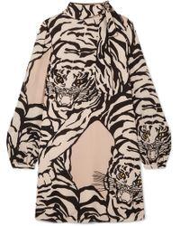 Valentino - Embroidered Short Dress - Lyst
