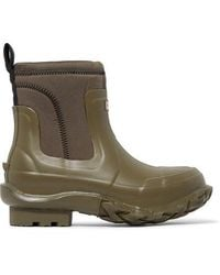 Stella McCartney + Hunter Rubber And Yulex Ankle Boots - Green