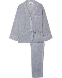 Sleepy Jones - Marina Linen Pajama Set - Lyst