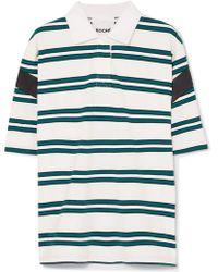 Koche - Satin-trimmed Striped Stretch-cotton Polo Shirt - Lyst