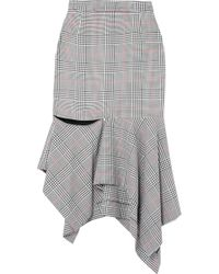 Monse - Ruffled Prince Of Wales Checked Woven Skirt - Lyst