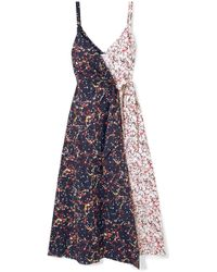Rosie Assoulin - That's A Wrap! Marbled Cotton-blend Poplin Wrap Dress - Lyst