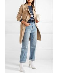 Burberry The Kensington Trenchcoat Aus Baumwoll-gabardine - Natur