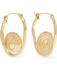 Ellery - Gold-plated Earrings Gold One Size - Lyst