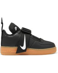 Lyst Nike Air Max 1 1 1 TextuRød læder, Nubuck And Mesh Sneakers in 82381d