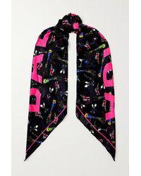 Balenciaga Tuch Aus Seiden-twill Mit Print - Pink