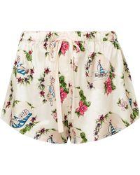 Morgan Lane - Martine Printed Satin Pyjama Shorts - Lyst