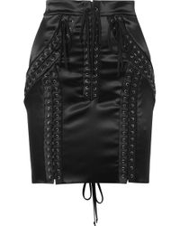 Dolce & Gabbana - Lace-up High-waisted Skirt - Lyst