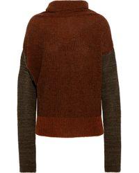 Vivienne Westwood Anglomania - Wilder Striped Wool-blend Bouclé Turtleneck Jumper - Lyst