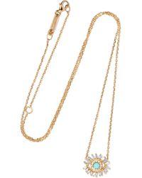 Suzanne Kalan - 18-karat Gold, Turquoise And Diamond Necklace - Lyst