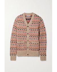 Alex Mill Fair Isle Knitted Cardigan - Brown