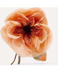 Gucci Floral Silk Brooch - Orange
