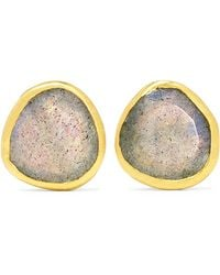 Pippa Small - 18-karat Gold Labradorite Earrings - Lyst