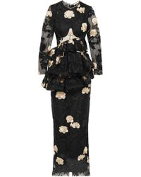 Brock Collection - Duma Ruffled Embroidered Tulle Gown - Lyst