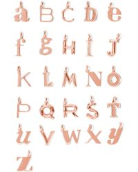Monica Vinader - A-z Alphabet Letter Rose Gold Vermeil Pendants Rose Gold E - Lyst