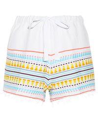 lemlem - Tabtab Striped Cotton-blend Gauze Shorts - Lyst