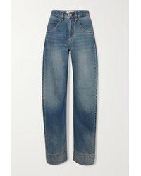 Victoria Beckham Mick Curve Hoch Sitzende Jeans Mit Weitem Bein - Blau