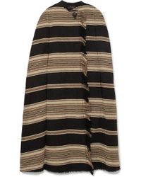 Isabel Marant - Huan Fringed Striped Wool-blend Cape - Lyst