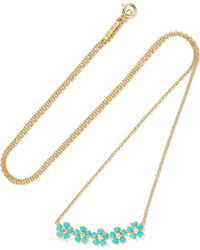 Jennifer Meyer - 18-karat Gold, Turquoise And Diamond Necklace - Lyst