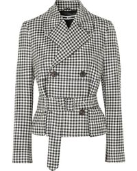 McQ - Belted Gingham Wool-twill Jacket - Lyst
