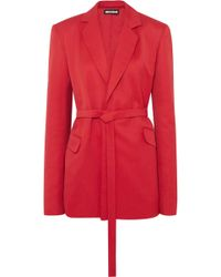 House of Holland - Oversized Belted Canvas Blazer - Lyst