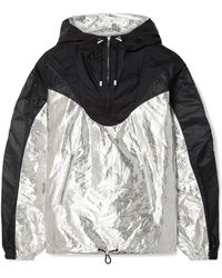 Isabel Marant - Richie Hooded Two-tone Metallic Shell Jacket - Lyst