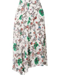 Isabel Marant - Cacia Floral-print Silk-blend Crepe De Chine Skirt - Lyst