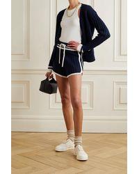 Rag & Bone Serena Wool Blend Short Relaxed Fit Short - Blue