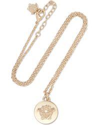 Versace - Goldfarbene Kette - Lyst