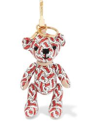 Burberry - Printed Leather Bag Charm - Lyst