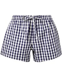 Sleepy Jones - The Paloma Gingham Cotton Pyjama Shorts - Lyst