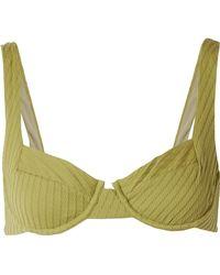 F E L L A. - Casanova Textured Underwired Bikini Top - Lyst