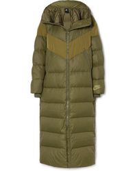 Nike Hooded Quilted Shell Down Coat - Green