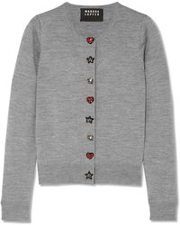Markus Lupfer - April Embellished Merino Wool Cardigan - Lyst