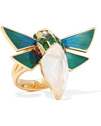 Stephen Webster - Cuckoo Bee 18-karat Gold Multi-stone Ring Gold 7 - Lyst