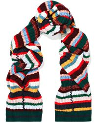 Burberry - Striped Ribbed-knit Scarf - Lyst