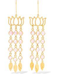 Pippa Small - 18-karat Gold Tourmaline Earrings - Lyst
