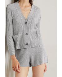 Skin + Net Sustain Wayde Ribbed Organic Cotton-blend Cardigan - Grey