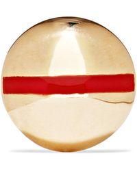 Alison Lou - Tiny Nail 14-karat Gold And Enamel Earring - Lyst