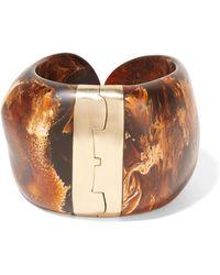 Dinosaur Designs - Bold Stone Gold-plated Resin Cuff - Lyst